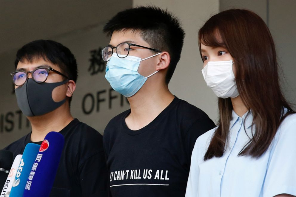 Ivan Lam, @joshuawongcf & @chowtingagnes back in court today (2:30pm, West Kowloon). Agnes has plead guilty & faces a possible prison sentence. Support these #HK freedom fighters who've sacrificed much for the greater good: https://t.co/mUijWv82ND https://t.co/T9xEoxlFbw https://t.co/dbWJi6VOYJ