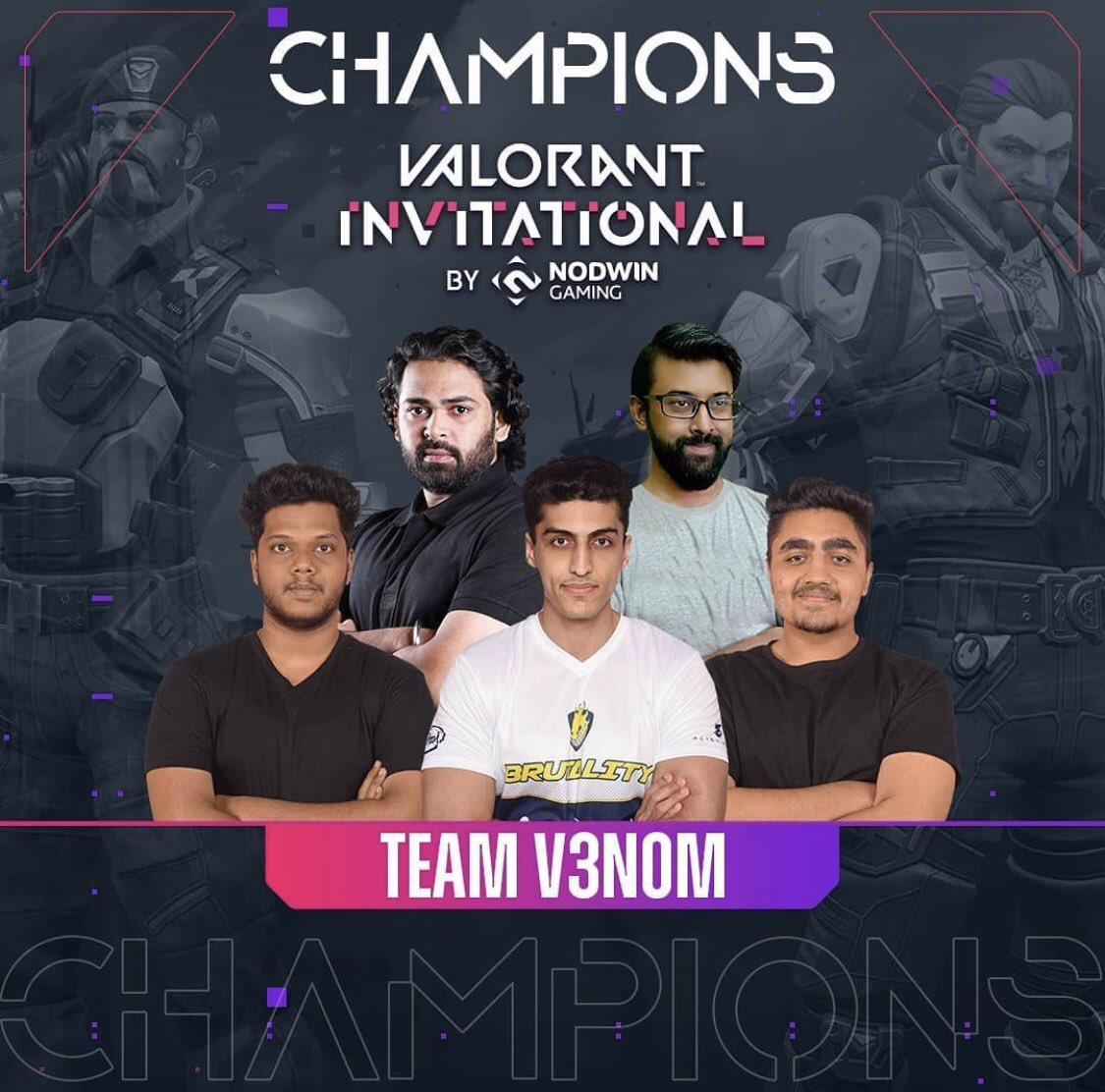 We are your champions of the Valorant Invitational 😇! Thank you for all the love and support ♥️. #V3nom #Valorant #Esports #Dell #Alienware #Corsair #RedBull #GivesYouWings #RedBullAthlete #GameOnIntel https://t.co/5JuAFIetX9