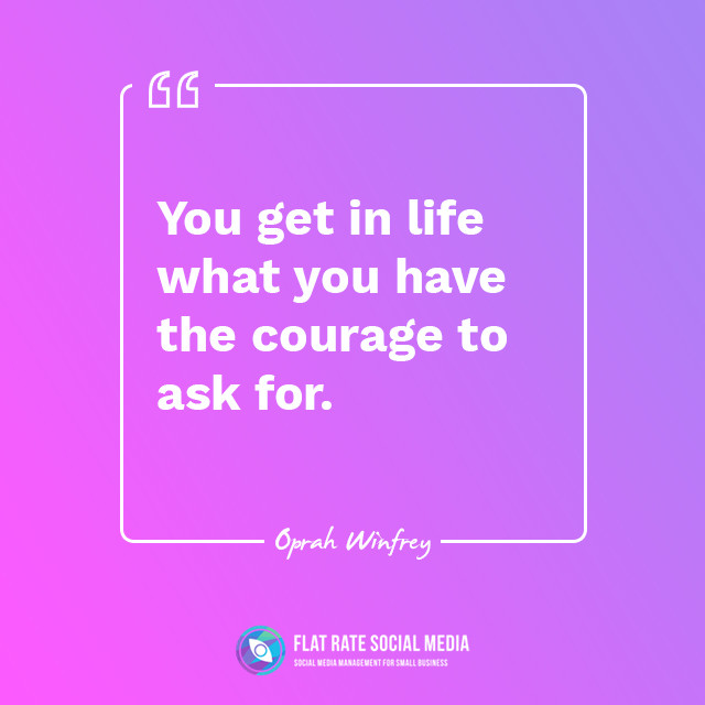 """You get in life what you have the courage to ask for."" ― Oprah Winfrey   #entrepreneurquotes⁣⁣ #dailyquotes #motivationalvideos⁣⁣ #dailymotivation #entrepreneurquote⁣⁣ #inspirational #inspiredaily⁣⁣ #hustlehard #successful #mindsetquotes⁣⁣ #motivationalquotesofthedaypic.twitter.com/R6FAYZQQDW"