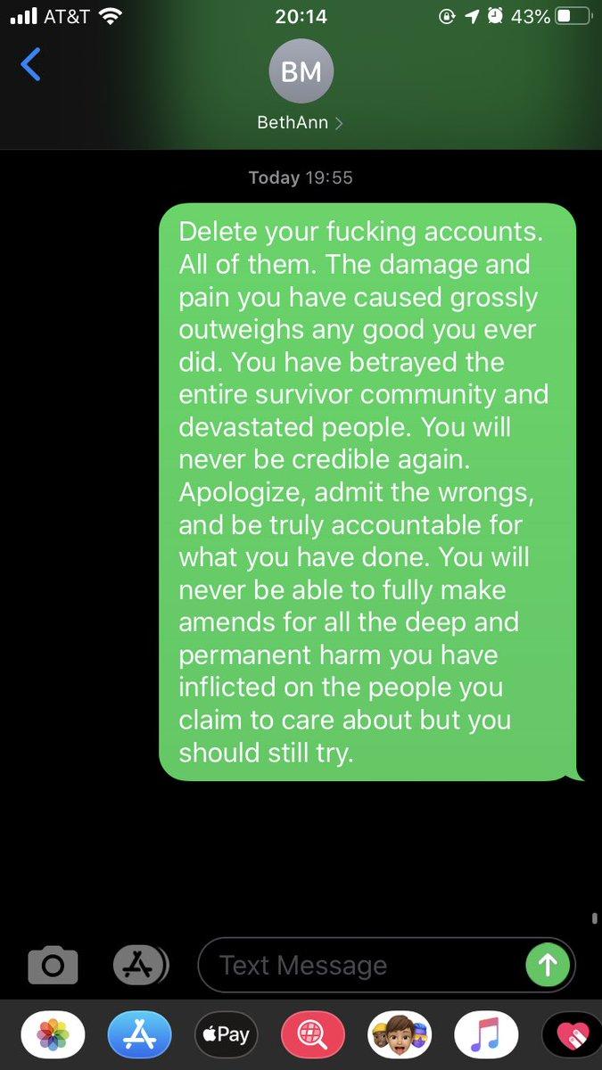@IsabelOtt Amen, @IsabelOtt. I sent her this text on Sunday night. She did not respond.