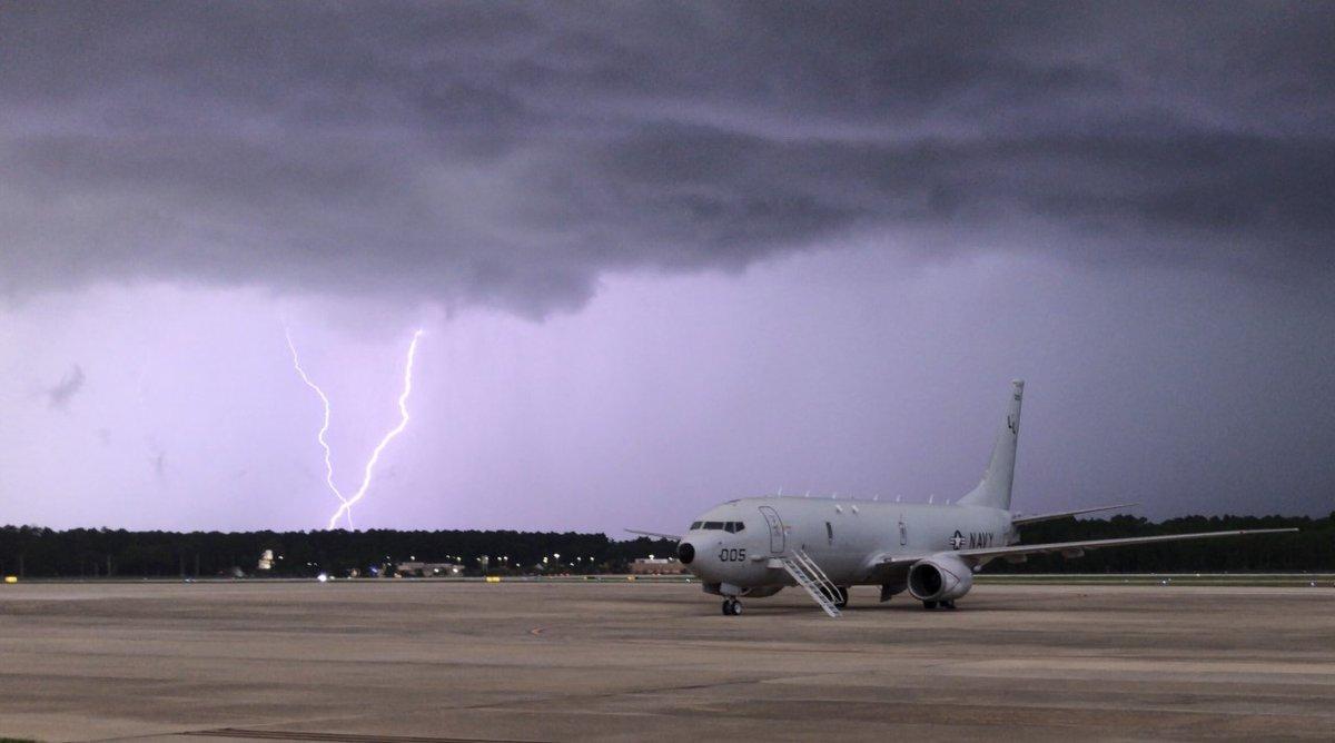 Stormy skies at NAS Jax tonight. Photo via @FCN2go viewer, Ryan Kelly. #FCNStorm