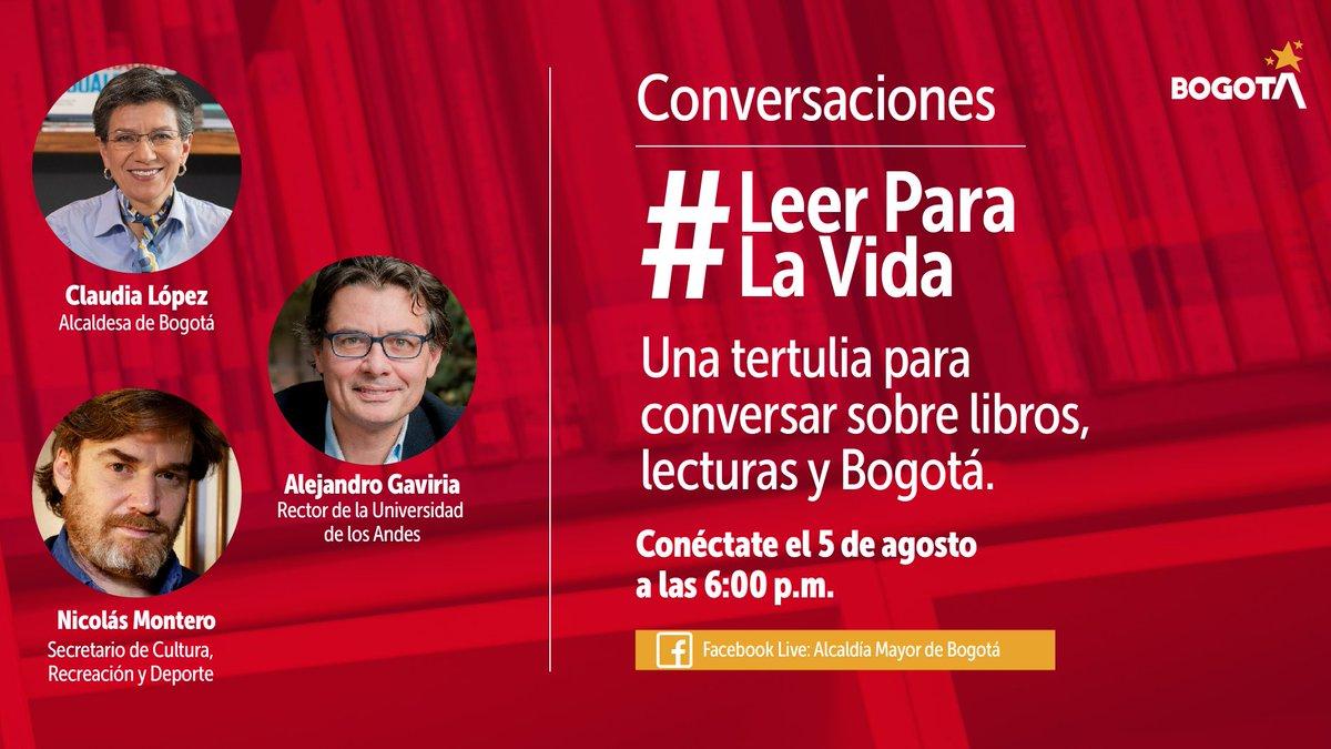 ¿Cómo crees que descubrieron la lectura la alcaldesa de Bogotá @ClaudiaLopez, el secretario de @CulturaenBta, @Bartelbyl o el rector de la @Uniandes, @agaviriau? Descúbrelo este 5 de agosto a las 6:00 p.m. en las Conversaciones #LeerParaLaVida 👉https://t.co/rxJYtMmEpS https://t.co/kpvlNh2RWU