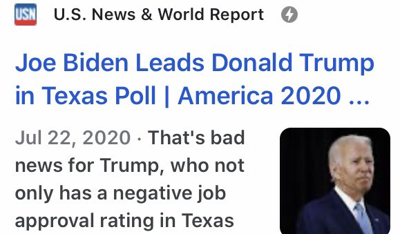 Oh my red rosy ass if u had 10,000 people cheering u on in TX. And u most certainly do not have a big lead in TX like u said. TX is going back to being Dems again ! Don't mess with TX!https://twitter.com/loudobbs/status/1290761042080014342…pic.twitter.com/TatdHnFign