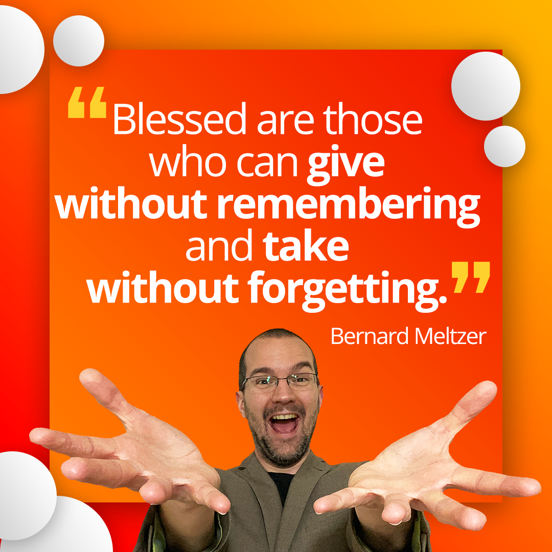 """""""Blessed are those who can give without remembering and take without forgetting."""" – Bernard Meltzer . . . #agency #freelancer #coaching #consulting #leadgeneration #startups #businesstips #businesspassion #onlinebusiness #businessquotespic.twitter.com/aloxikazXq"""