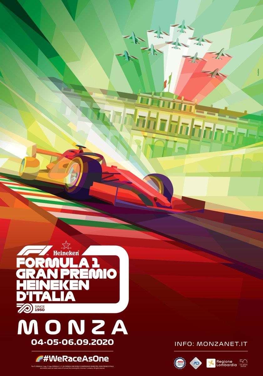 Frecce Tricolori, Villa Reale, il rosso della passione e i nostri inconfondibili cordoli. In questa immagine c'è #Monza, c'è l'Italia, ci siamo noi. Ecco il poster ufficiale di #ItalianGP! 🤩 🇮🇹 #MonzaF1 #F1 https://t.co/hGsz6qrN4a