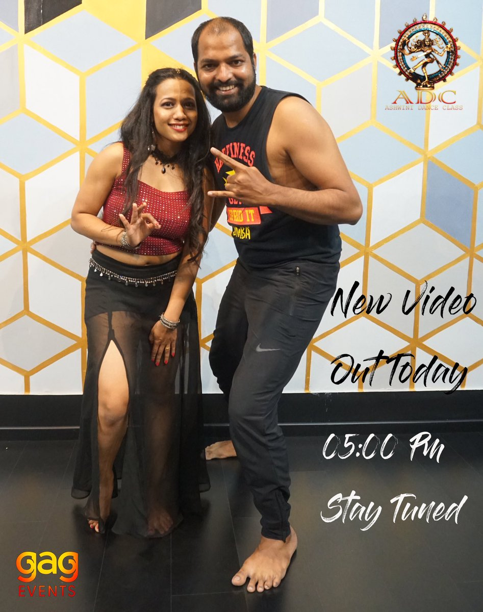 Just a few hours and the super bomb choreography arrives soon on our page @ashwinidanceclass  Stay tuned & we want your love and support  Today AT 5pm Keep supporting #adc #ashwinidanceclass #gagevents #gauriandganpatievents #gaurav #ashu #videoshoot #videographypic.twitter.com/hC0gHfEUPM
