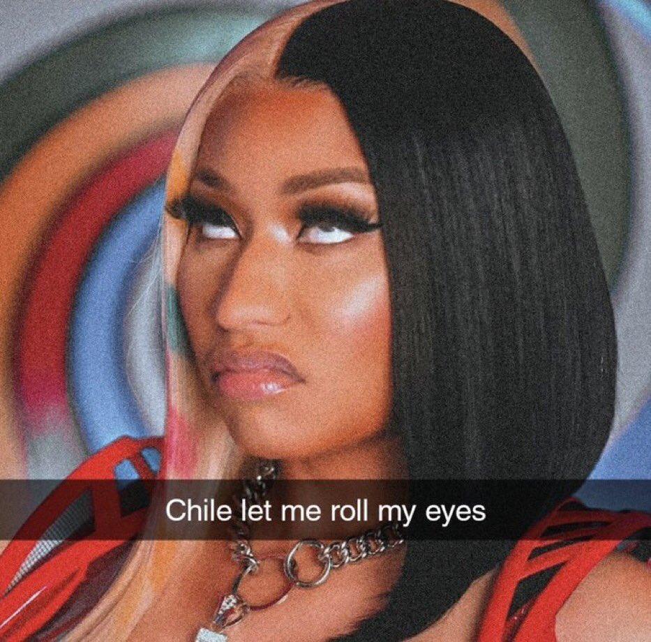 Reactions On Twitter Nicki Minaj Chile Let Me Roll My Eyes