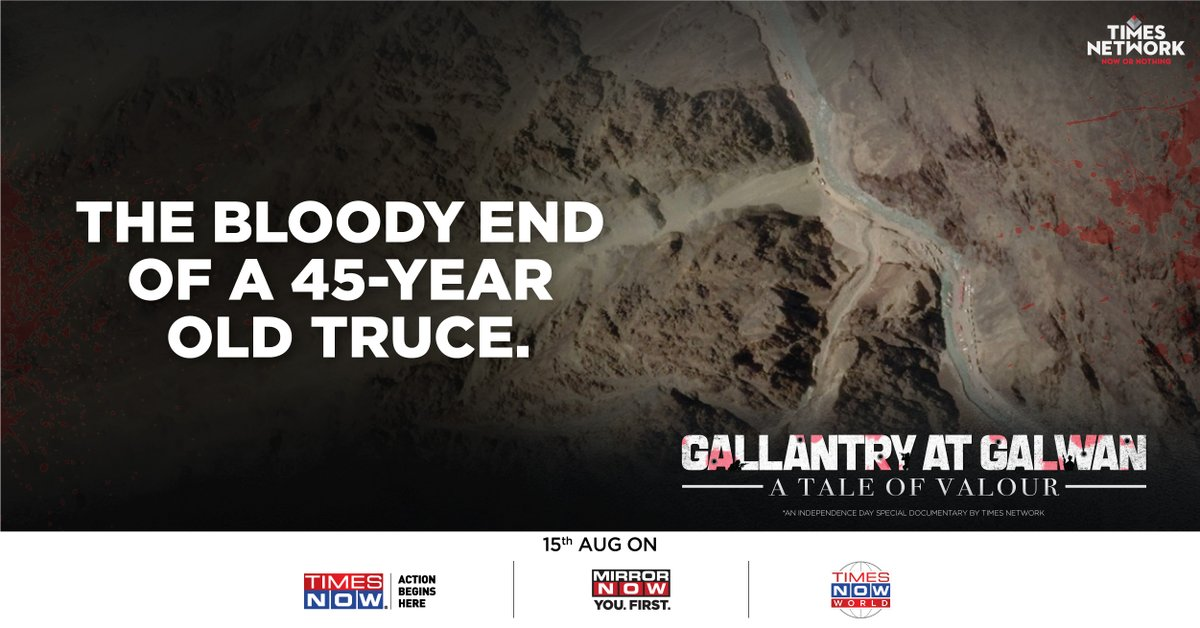 What led to a bloodbath between two neighbours after a 45 year lull? Watch 'Gallantry At Galwan – A Tale Of Valour', an Independence Day special documentary by Times Network  15th Aug on @TimesNow and @MirrorNow https://t.co/CA2VFLUMiz