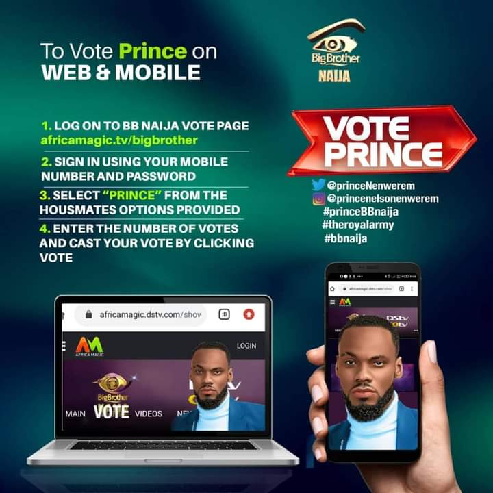 The new trend for this week should be text VOTE Prince TO 32052. Any BBN tweet you see, text VOTE Prince TO 32052 No savage, no hype, no insults....just pure text VOTE Prince TO 32052 #BBNAIJA #BBNaijaLocdown