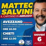 Image for the Tweet beginning: ++ DOMANI MATTEO SALVINI IN
