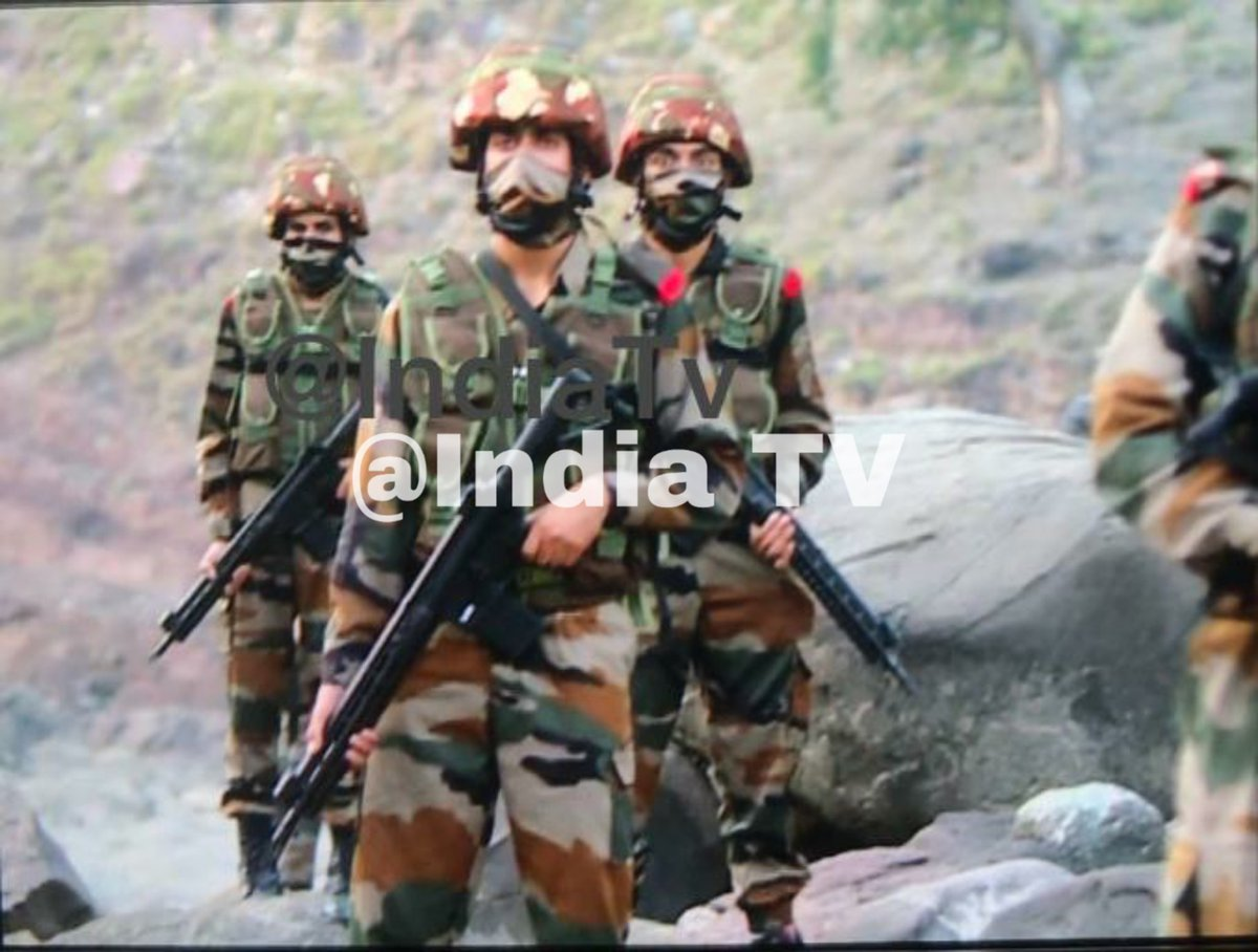 Indian army troops with SIG 716i