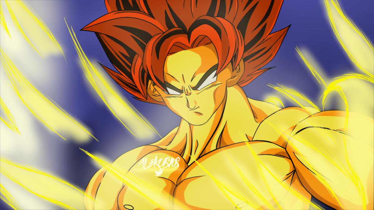 "false ssj goku but with ssj hair, tried to do a aura which ""lives"" more  #Goku #DragonBall #DragonBallZ pic.twitter.com/WSMWCWKETb"