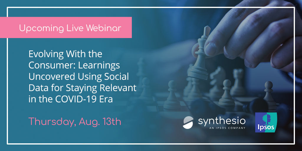 Don't forget to register for our upcoming #Webinar with experts in business intelligence at @Ipsos and Synthesio.   Link to register here: https://t.co/SrLZrWz5BE https://t.co/2iIQR7QsIt