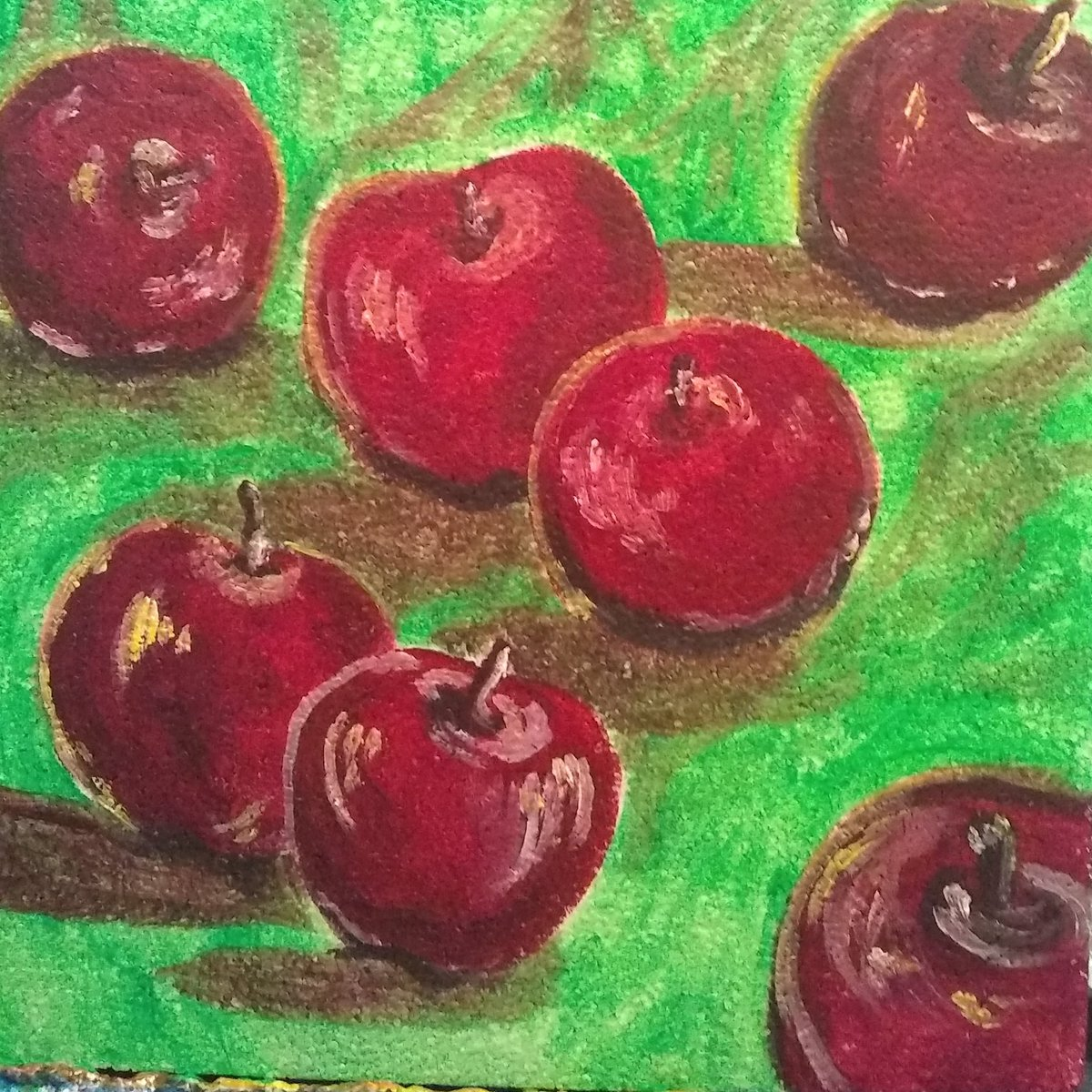 #paintings #acrylicpaintings #apples #applepaintings #fruitart #fruitpaintings Created this acrylic painting of some apples for one of my YouTube demo videos. Love how this one turned out. pic.twitter.com/CYN5U9fx4o