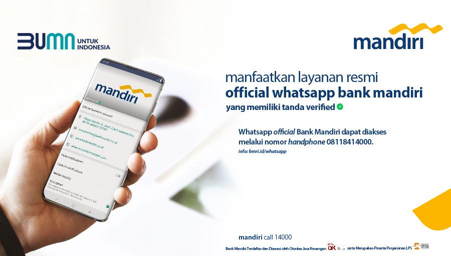 Bank Mandiri On Twitter Bank Mandiri Mempersembahkan Akun Whatsapp Resmi Dengan Nomor 62 81 184 14000 Sebuah Akun Di Platform Aplikasi Whatsapp Yang Saat Ini Digunakan Sebagai Sarana Penyebaran Informasi Dan Edukasi Kepada Nasabah