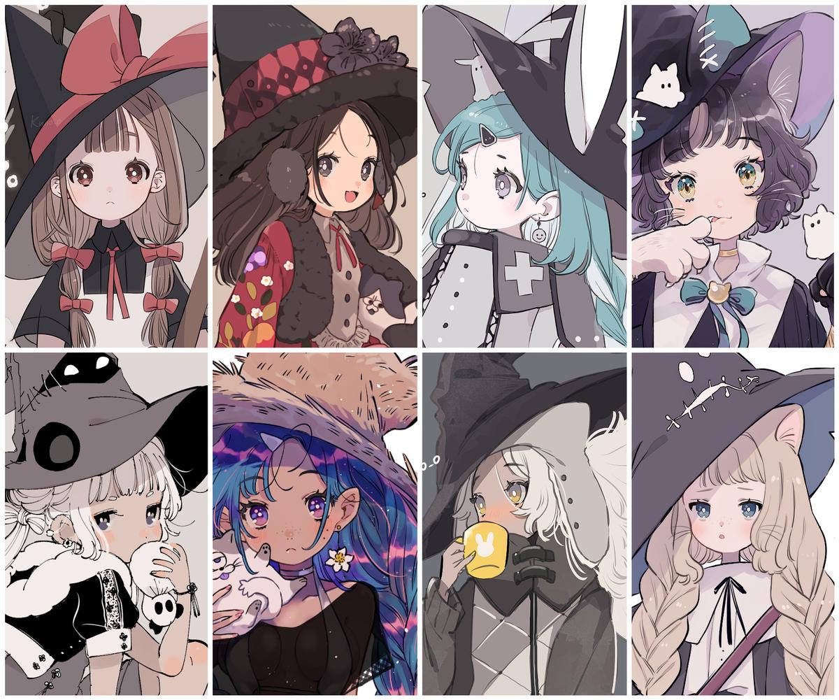 いままで描いた魔女たち