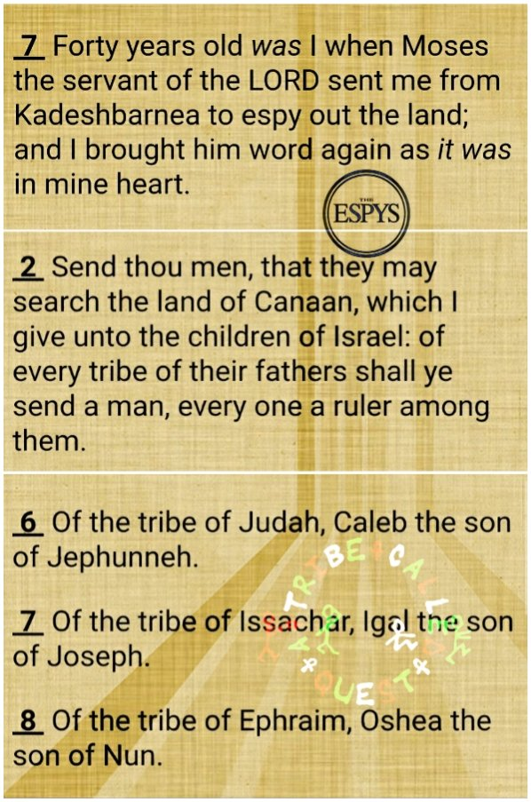 The Called: The Quest of Two Tribes a.k.a. #AwardTour: Espy the Land: If war was a sport, would #Joshua and #Caleb win #EspyAwards? #STEELYourMind #ManuFortiMinistries #Numbers13_1_17 #Joshua14_7_8 #TheCalled #ATribeCalledQuest #tribe #TribeCalledQuest #EspyAwards #Espys #espy https://t.co/aBkjO7qrYh