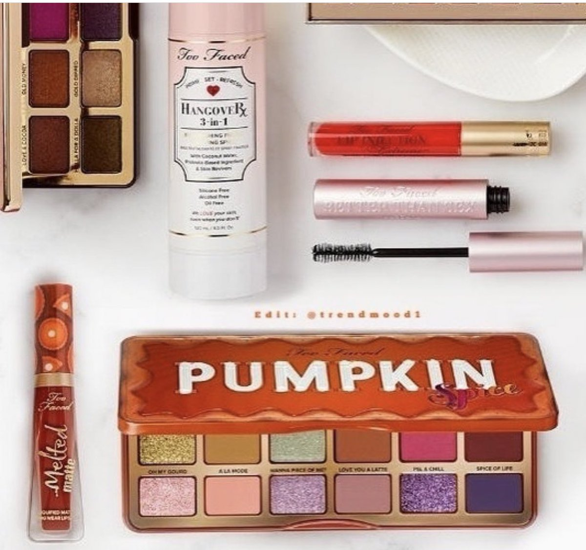 #SneakPeek #Fall is almost here, the #Pumpkin trend is back!  LKS like there is NEW! #PumpkinSpice items that are about to drop by #toofaced Includes: The Pumpkin Spice #EyeshadowPalette  The Pumpkin Spice Melted Matte  #LiquidLipstick  Online  AUGUST @hsnpic.twitter.com/q34V4Nirjt