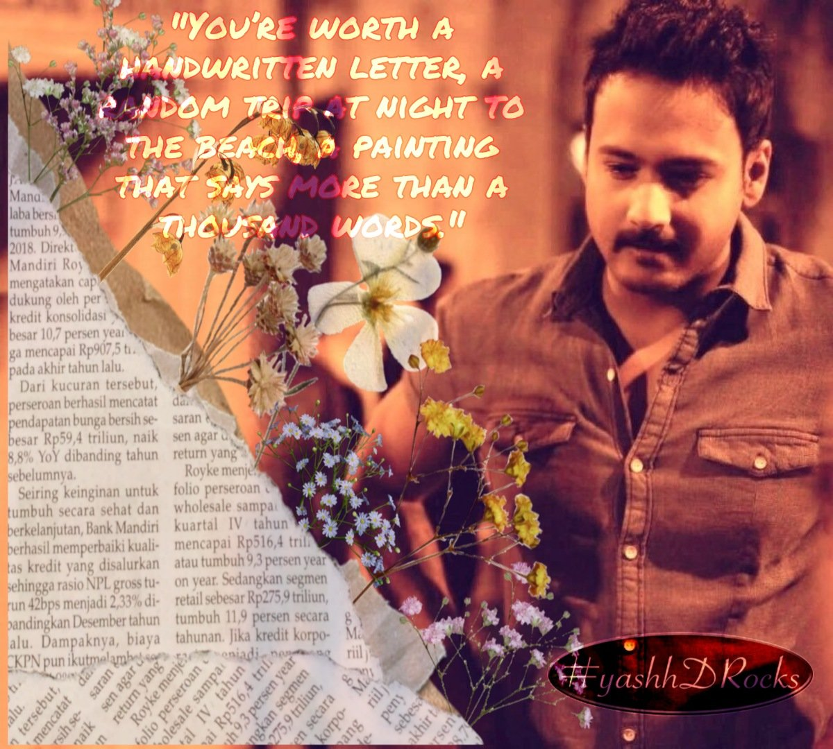 """You're worth a handwritten letter, a random trip at night to the beach, a painting that says more than a thousand words."" — Scottie Waves #yashhDRocks #yashdasgupta #TollywoodActor #ExpressionKing #UpcomingMovie #thriller #SOSkolkatapic.twitter.com/1QqejqdTOB"