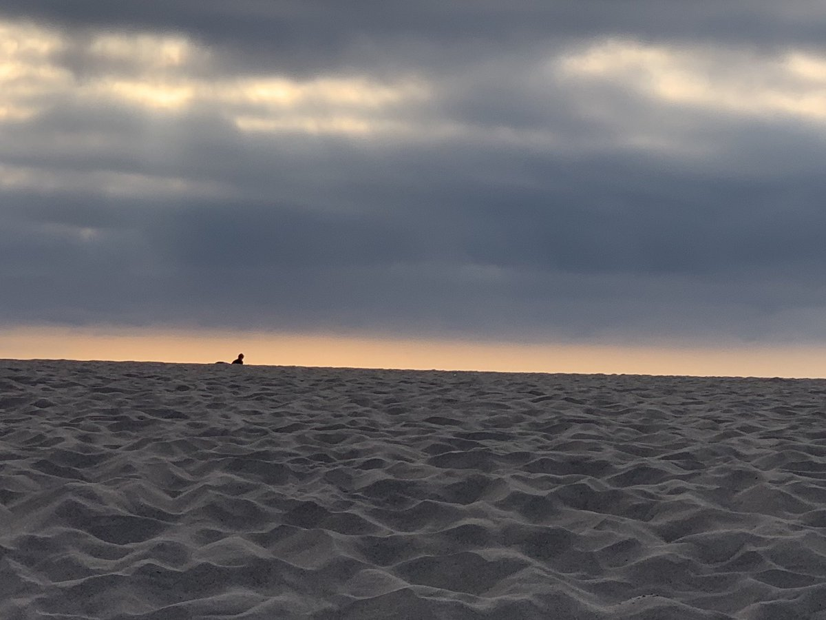 Manhattan Beach, 7 miles from LMU, this evening. Yes, that is a surfer along the beach. #lmuadmissions