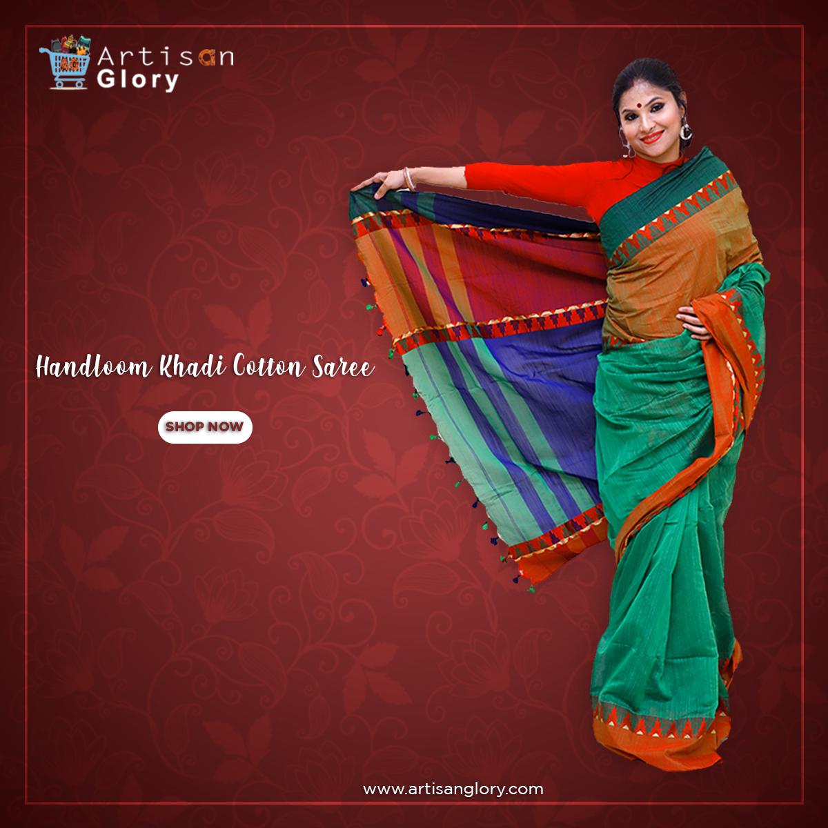 Shop Online: http://www.artisanglory.com #handloom #handloomsaree #templedesign #khadicottonsaree #cottonsaree #khadisaree #saree #onlineshopping #stitchedsaree #khadisareepic.twitter.com/pXmxKPBuhn