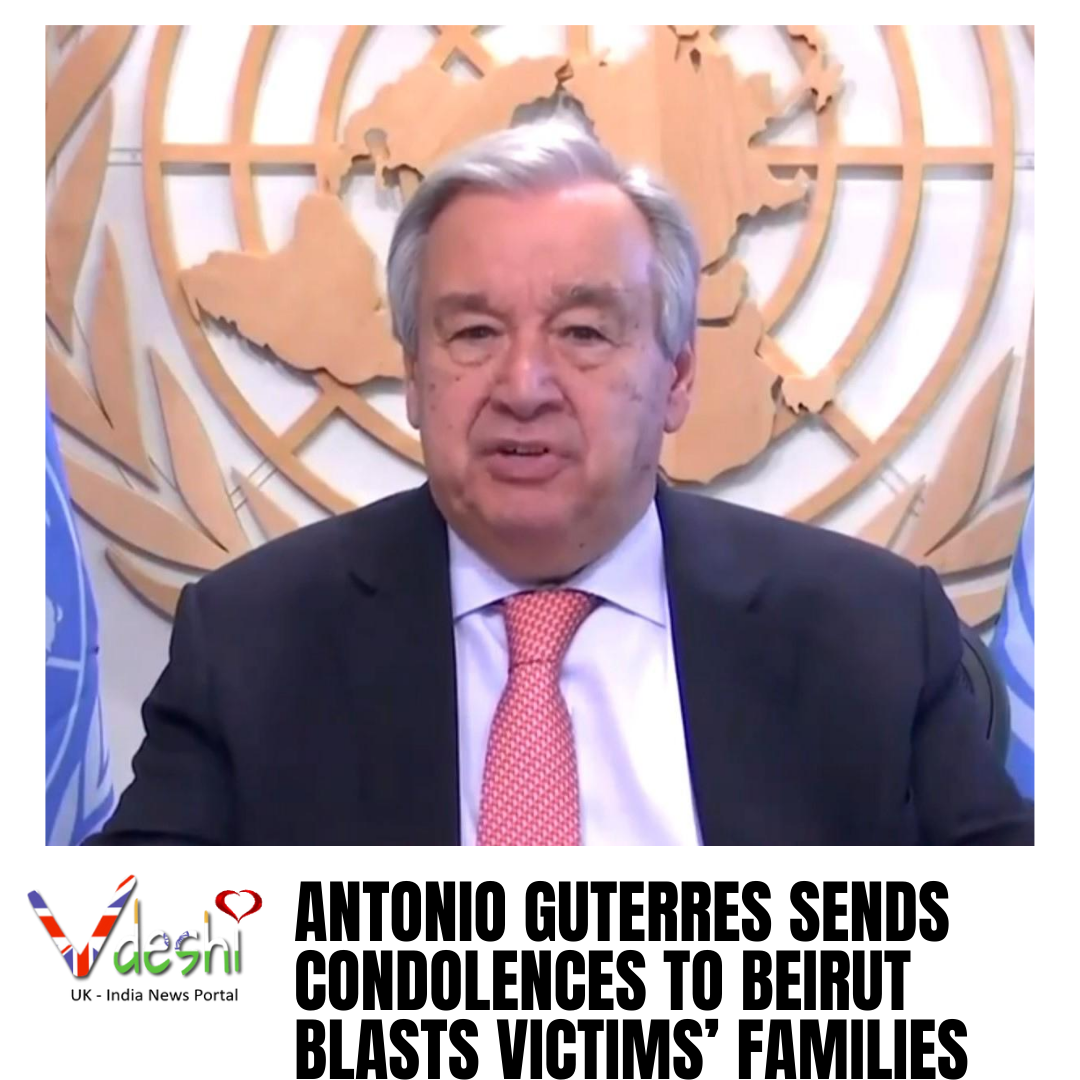 Antonio Guterres sends condolences to Beirut blasts victims' families  UN Secretary-General Antonio Guterres has sent his condolences to the families of the victims following the horrific explosions in Lebanese capital Beirut  Read here : https://t.co/LxdcxrpE7J  #AntonioGuterres https://t.co/AUcSDN511O