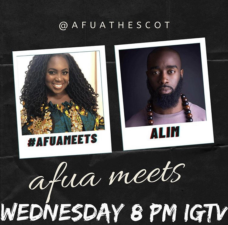 TONIGHT!  Join me on Instagram Live as I sit down with Afua Adom (@afuathescot) to talk about my new single Kam Na Yah, storytelling, life and more! See you then! #newmusic #alimkamara #afrobeats #salone #krio #hiphop #rap #ukmusic https://t.co/eahBnIlvHk