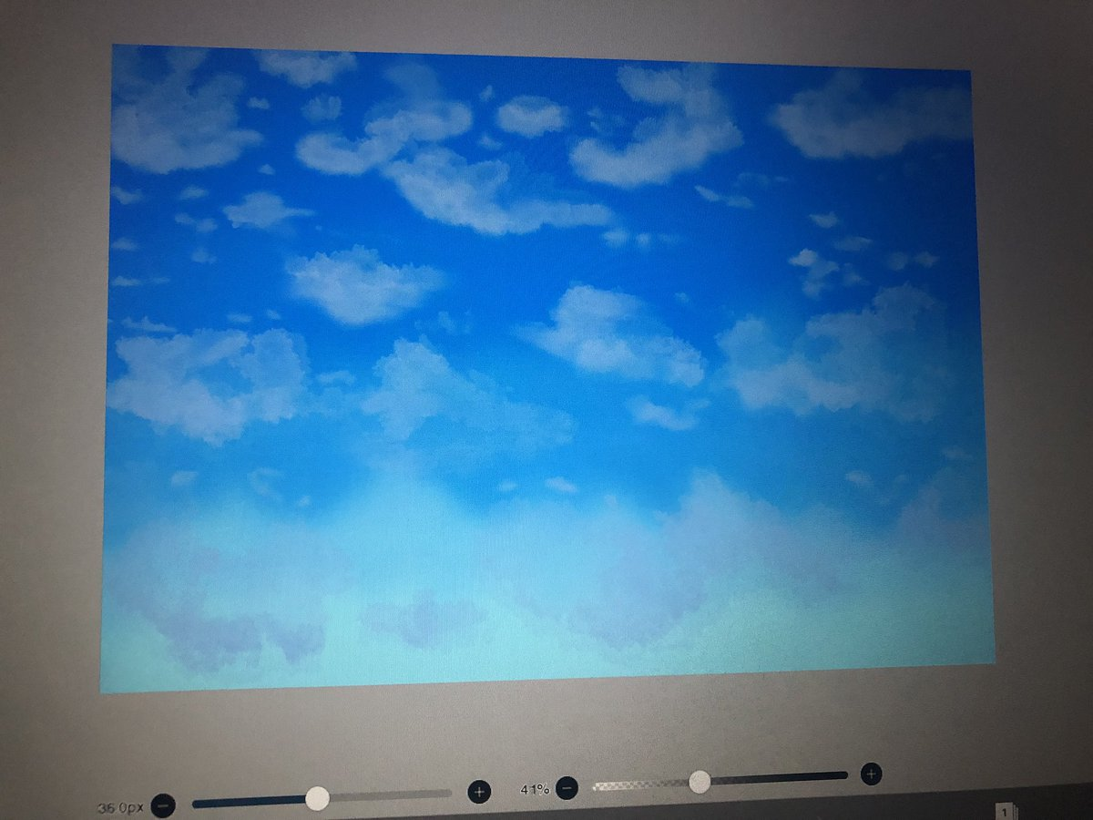 Working on a new digital painting hehe  #cloudy pic.twitter.com/oLKA4qcxPZ
