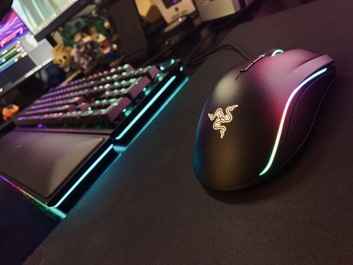 New gear, Razer Huntsman Elite & Razer Mamba, let's goo! Come be nocturnal with me!  Twitch: https://twitch.tv/hologramdreams  Question Of The Day: If you had a super power what would it be?  #hologramdreams #twitchstreamer #twitchaffiliate #latenightstream #razer #razergaming #catcampic.twitter.com/Won6819QwS