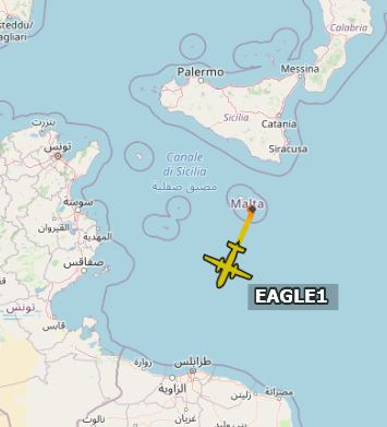 Diamond Executice Aviation #Beechcraft350 #EAGLE1 took off from #Luqa for an #ISR mission between #Malta and #Libya This aircraft usually flies from #Catania #Italy. However DA42 of the same Cie are based in Malta @ItaMilRadarpic.twitter.com/PyCcG9cSYv