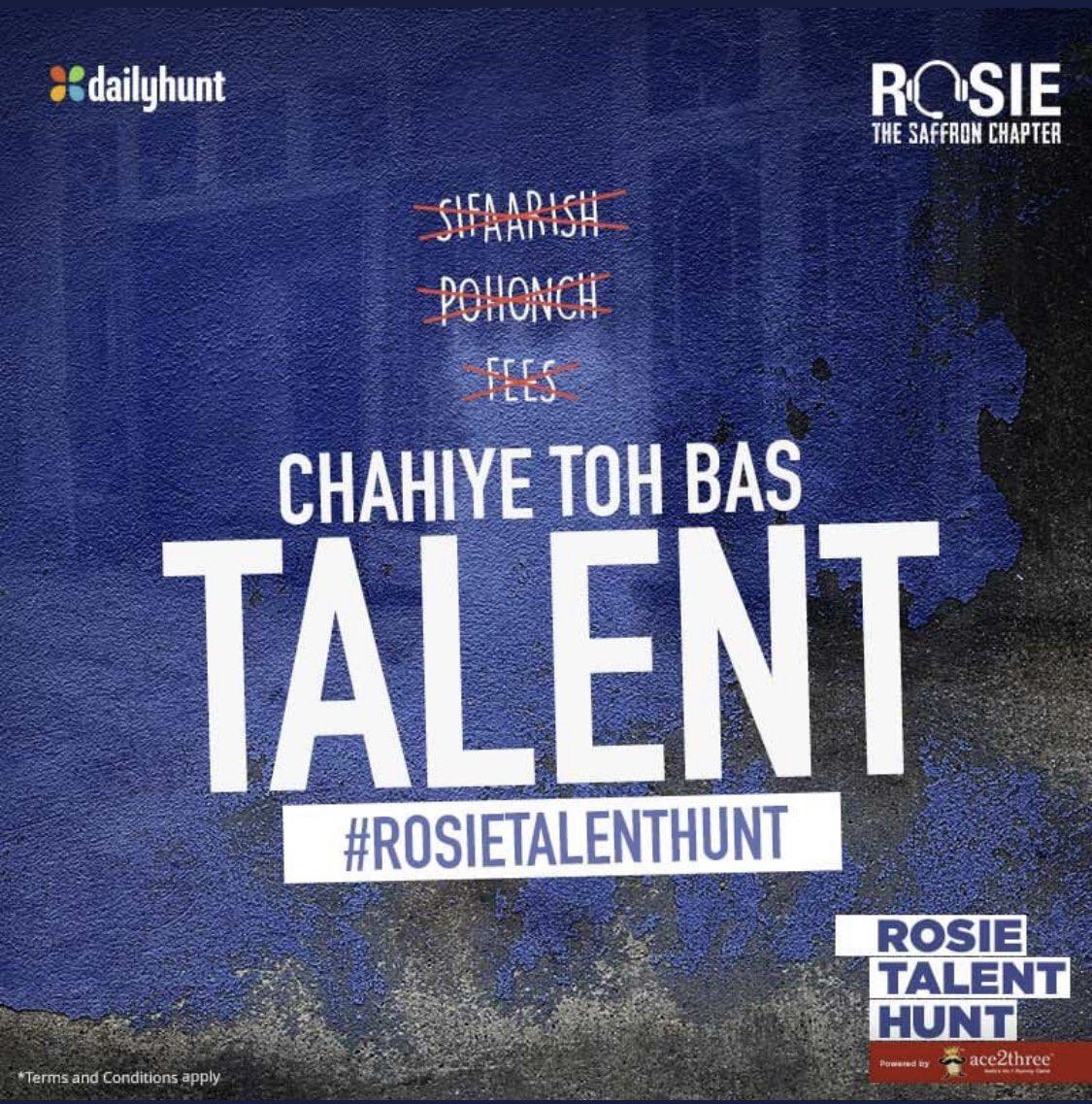 Only the power of pure talent will make it through,upload your auditions now & the best one will star in prominent role alongside lead cast in my film @RosieIsComing @vivekoberoi @mandiraa_ent #PrernaVArora @IKussum @girishjohar @d_reshabh @Ikeyurpandya @u_dhanesh @sanjeetyermal