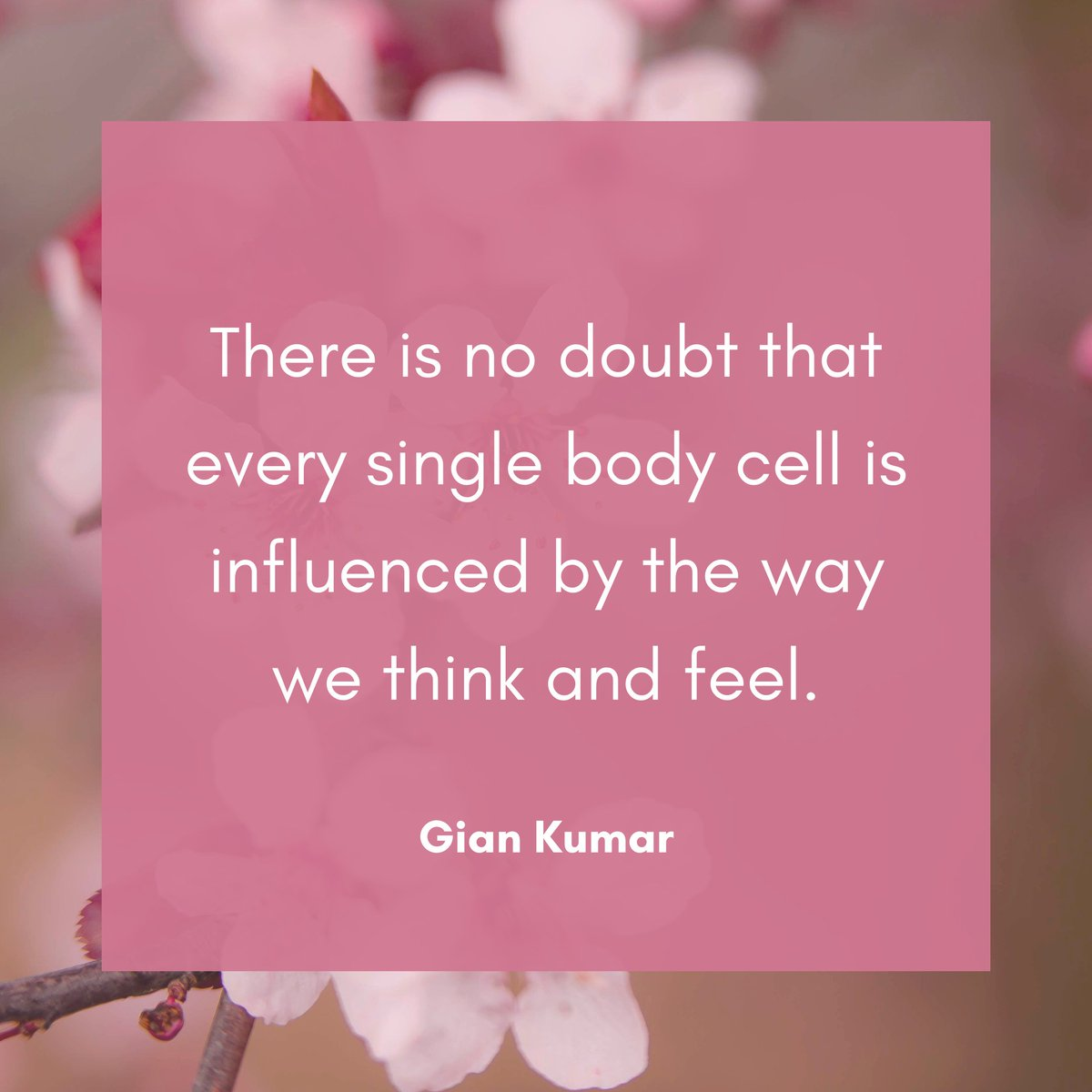 There is no doubt that every single body cell is influenced by the way we think and feel. . . . . . . #giankumar #spiritualauthor #spiritualist #spiritualpower #mustread #mindfulness #mindfulnessmatters #ego #mind #balance #harmony #discipline #hayhouse #hayhouseindia #controlpic.twitter.com/FPibhDC88B