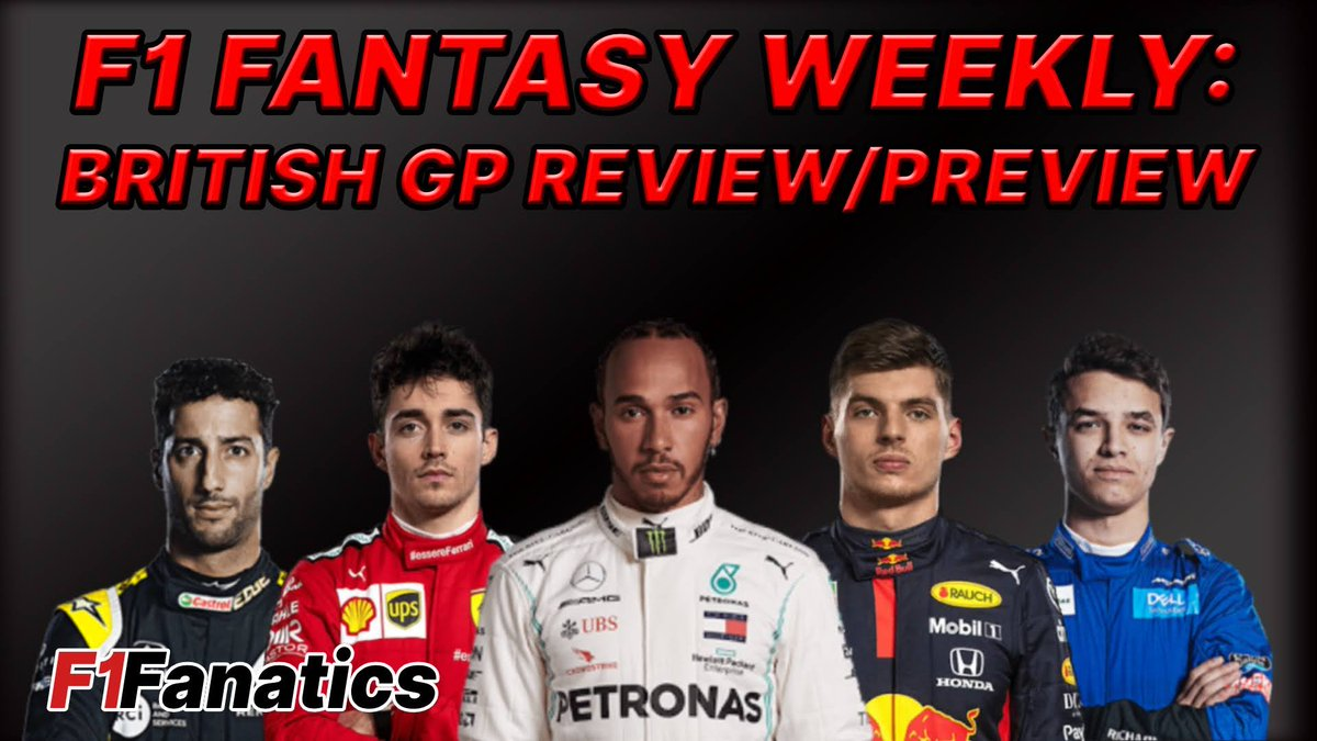Hi guys!  It's Wednesday which means its F1 Fantasy Weekly day! Join me and @F1FanaticsSteve at 6pm UK time as we review Sunday's British GP and Preview this Sunday's 70th Anniversary race!  #F1 #F1Fanatics #F1Fantasy https://t.co/pGS8e8oGHD