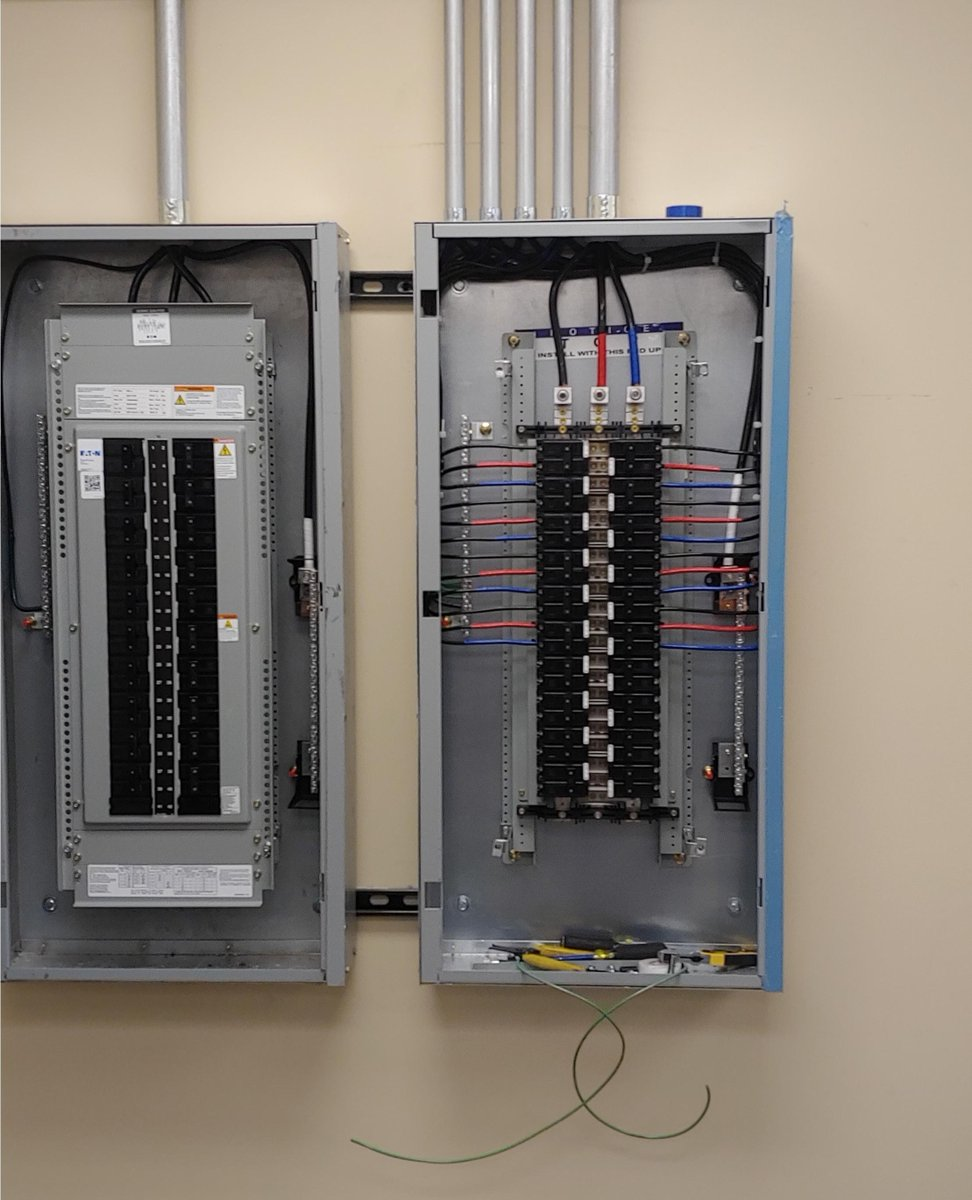 Replying to @serve_electric: Check it out! John installed and wired this panel for computer data.