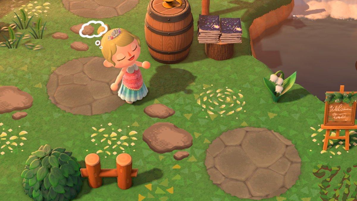 毎日マイデザ!夢見の実装によっていま島の整備をしている方もいると思ったので、淡い色味の草葉2種の公開です!ランダムなものと花びらのように丸いものになります! #どうぶつの森 #AnimalCrossing #ACNH #NintendoSwitch #マイデザイン