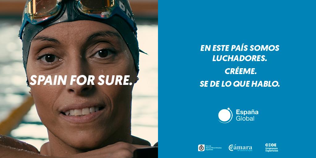 """#España es un país competitivo, fiable, seguro. Nuestros valores son ahora más fuertes que nunca.  La ganadora de 26 medallas en los Juegos Paralímpicos @teresa_perales se une a la campaña #SpainForSure y nos recuerda: """"En este país somos luchadores.""""  @EspanaGlobal https://t.co/nEpgWLmZhW"""