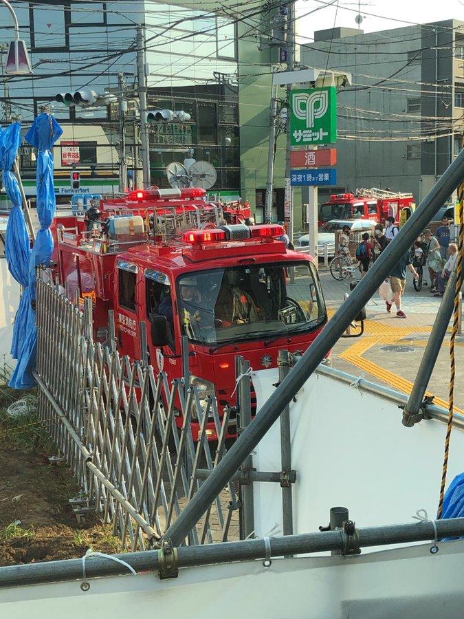 京王井の頭線の久我山駅で人身事故の現場の画像