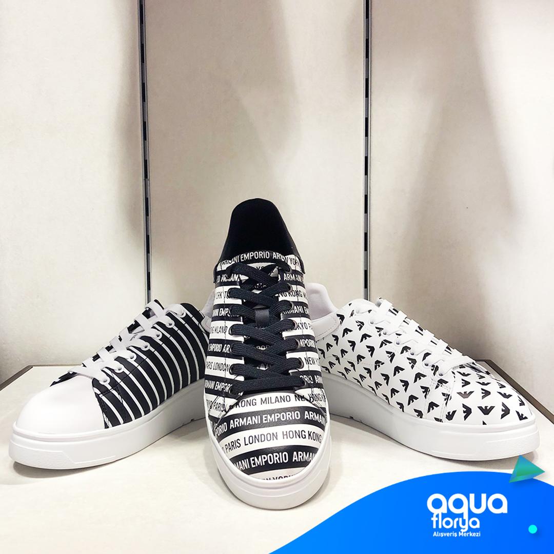 Erkek modasının vazgeçilmez markası Emporio Armani, #AquaFlorya'da. Kombinlerinizin havasını değiştirecek bu ayakkabılardan sizin favoriniz hangisi? https://t.co/rAFosgpVoH