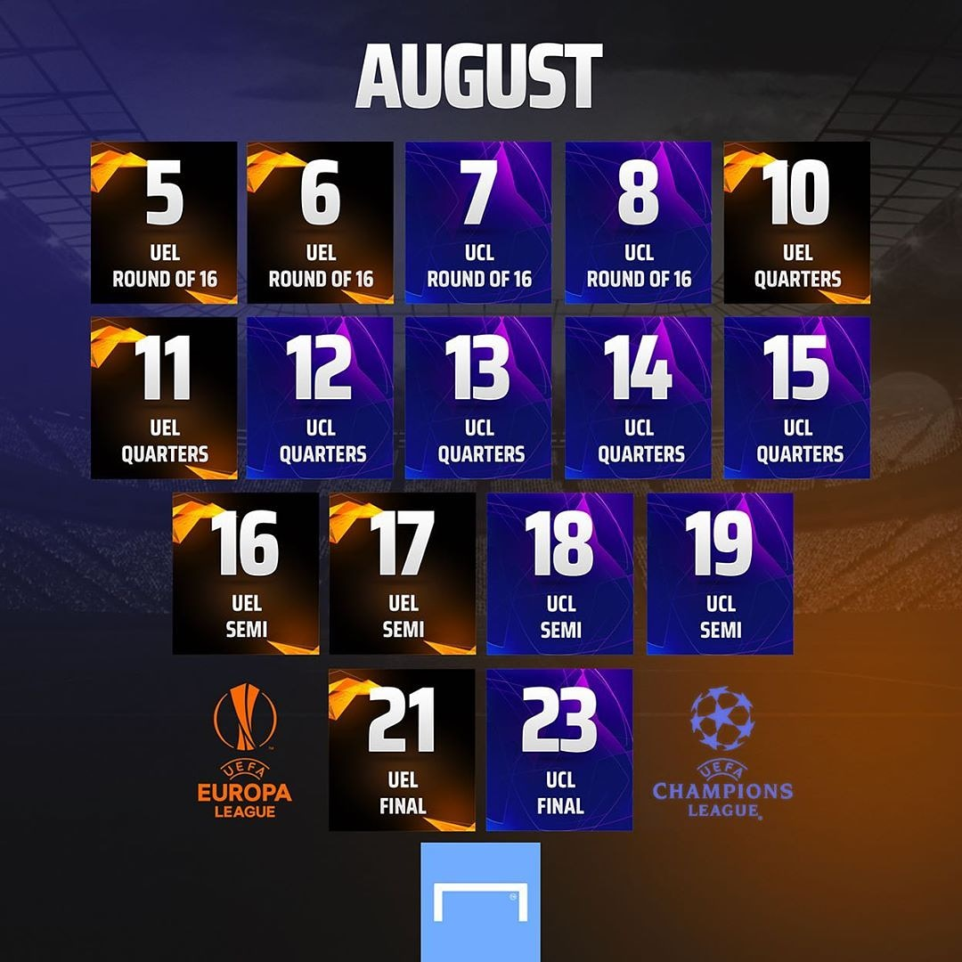 The month of August is about to be a Football match filled month  The UEFA Champions League and Europa League will return from today 5th of August  Get daily football Prediction on https://t.co/3pi1HQOpXe https://t.co/jwZbE2CyMt