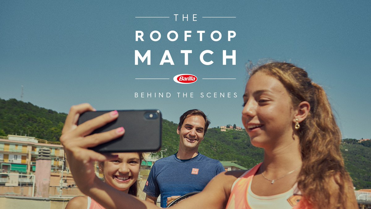 A surprise that melted hearts all around the world 🎾🍝 Watch the behind the scenes video of how @rogerfederer surprised Carola and Vittoria and the day they spent together. #TheRooftopMatch