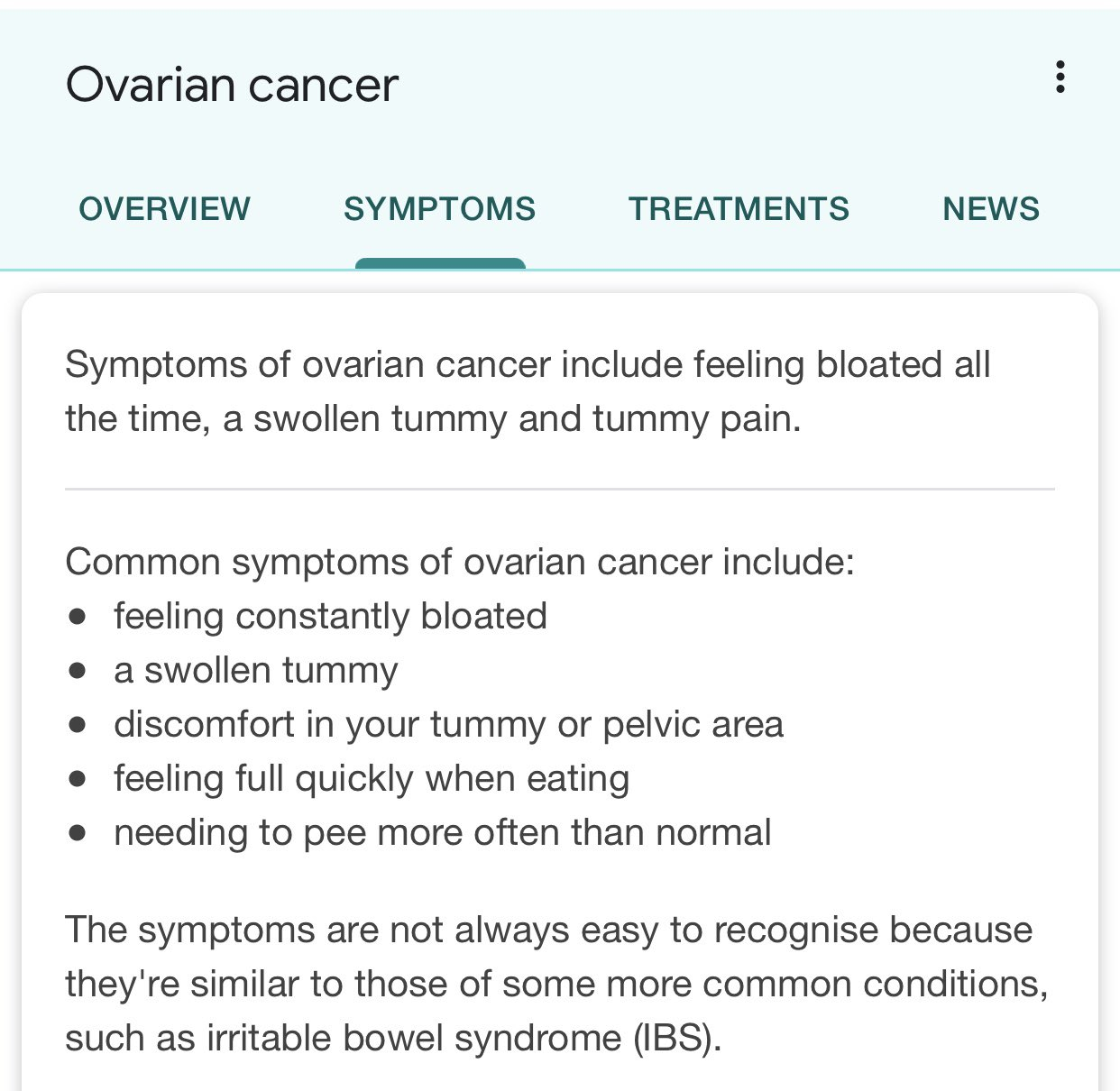 Jean Hatchet On Twitter If You Are Female You Are Not Routinely Screened For Ovarian Cancer I Didn T Understand The Symptoms And Neither Did My Mate She S Not Here Any More The