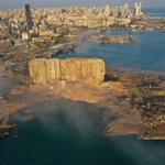 Image for the Tweet beginning: The crater at Beirut port