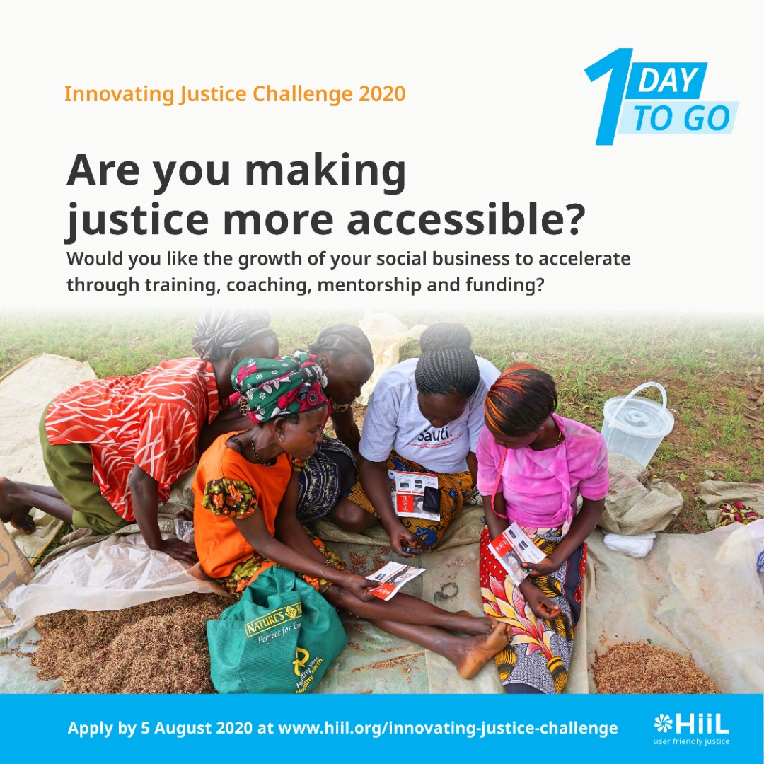 Today is the last day for submitting your application for the Hill Innovating Justice Challenge.   Apply here: https://t.co/Y9er7Mk5Be https://t.co/U4FJvIy7Co
