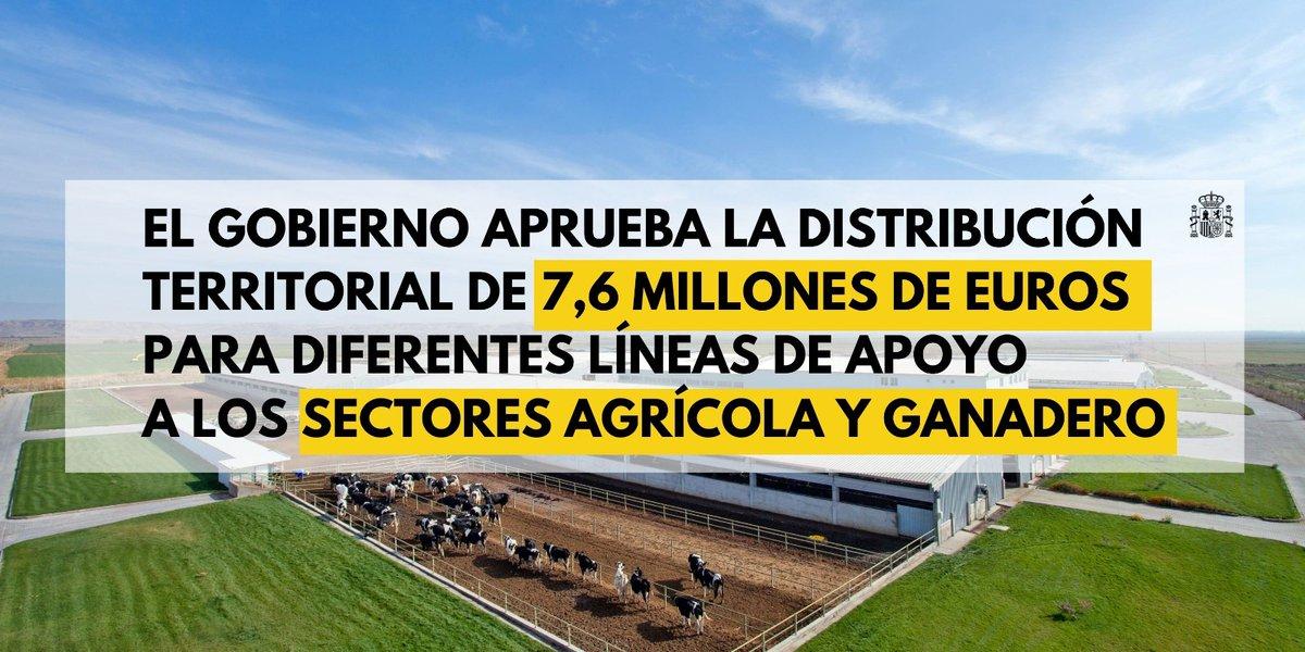 Twitter La Moncloa. El Gobierno ha aprobado la distribución...: abre ventana nueva