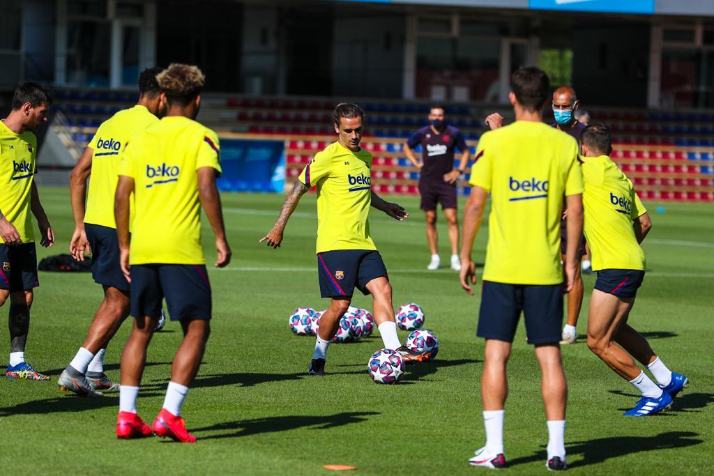 Griezmann, en la sesión del Barcelona de este miércoles (Foto: FCB).