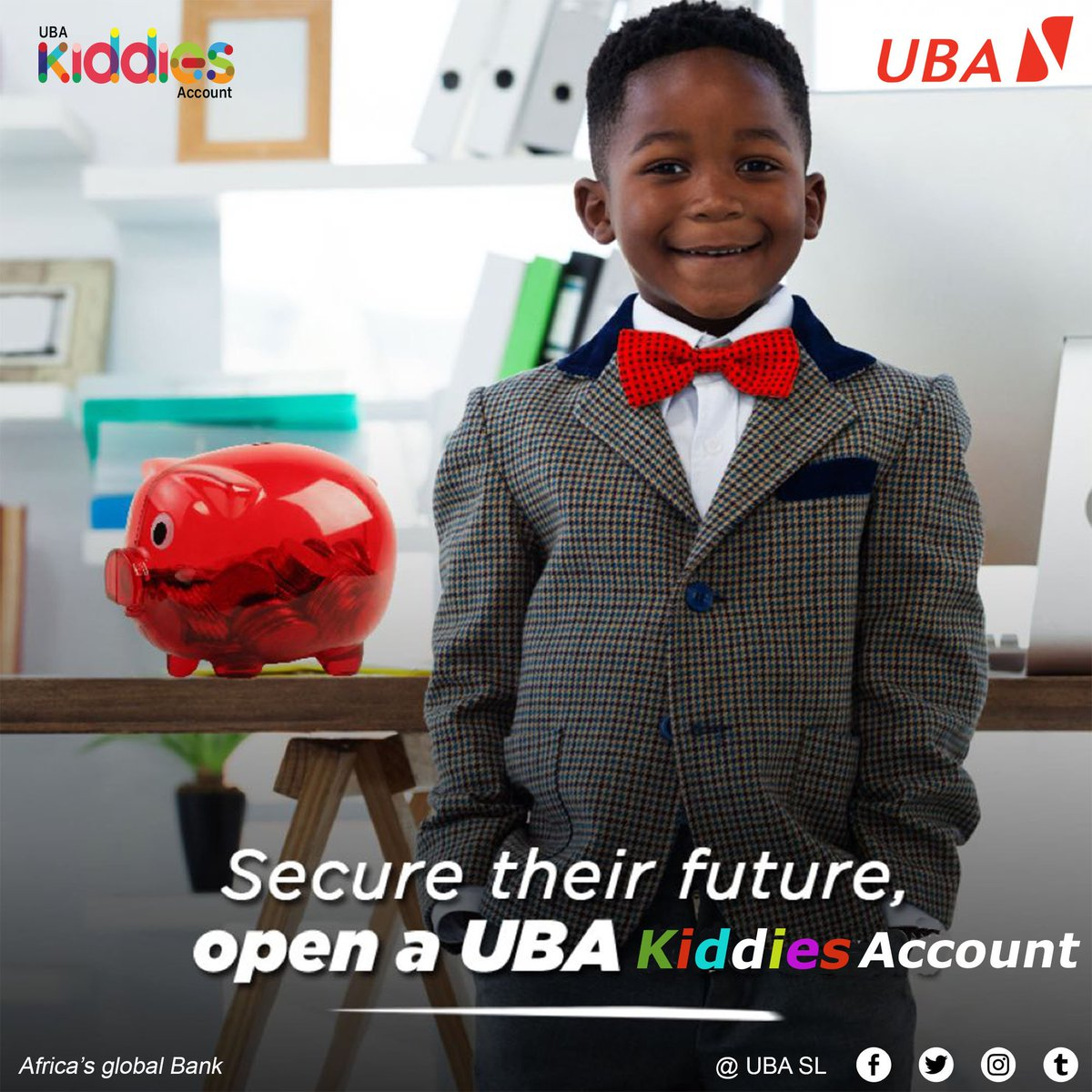 Benefits  - Earn 13th Month Reward of monthly savings plan  - A chance to partake in the scholarship scheme  -  A one-year Scholarship  -  Best interest rate payable monthly    #UBAGroup  #UBAKiddies  #UBASierraLeone  #AfricasGlobalBank https://t.co/tI3yAkAs9f