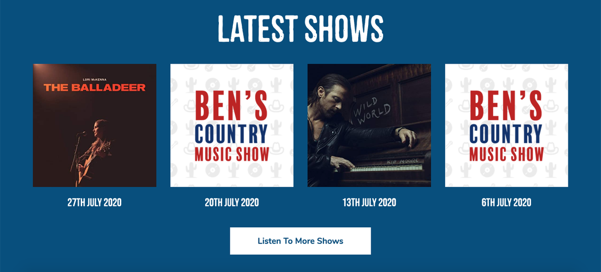 Added lots of new shows from the past few weeks to the @benscountryshow website. Catch up on programmes from June and July which you might have missed! #CountryMusic #Radio #UKCountryRadio #ListenAgain pic.twitter.com/X7ciWKrLFC