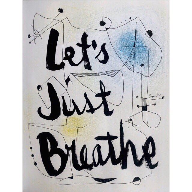 Let's Just Breathe. Chinese brush pen and ink on paper. 11in x 14in • 27,94cm x 35,6cm • #artonpaper #strathmore #strathmorepaper #surrealisticartwork #abstractart #abstract #justbreathe #letsjustbreathe #pearljamsong #eddievedder #handdrawnletters #handlettering pic.twitter.com/OaPS9zxPwt