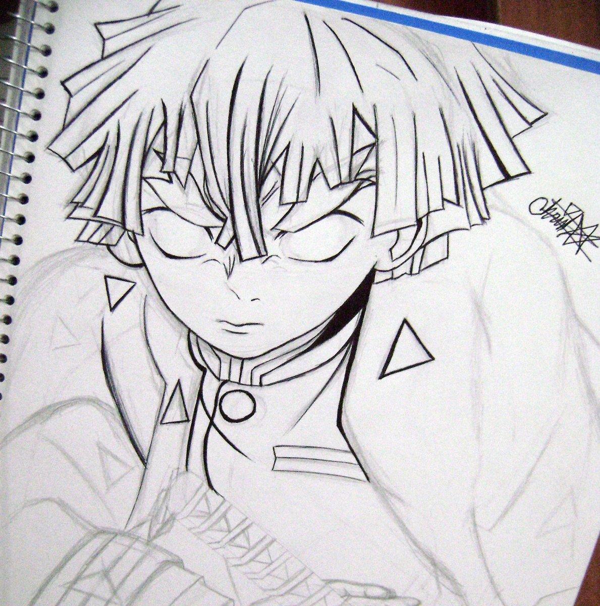 Zenitsu Agatsuma  Kimetsu no yaiba  sketch in process  ¿Black and white or color? Need help.  IG:  ( Here ) https://www.instagram.com/hoolasoychris/  #kimetsunoyaiba #drawing #mangadrawing #tanjiroukamado #zenitsu #dibujos #scketch #fanart #mangaedit #mangaart #animebreathpic.twitter.com/4T2clZvipW