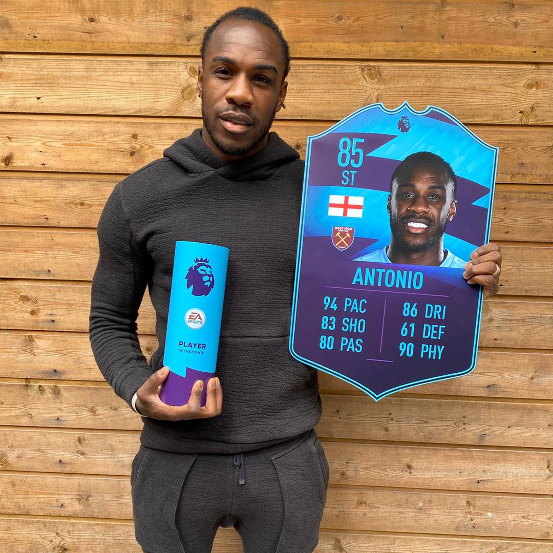 What an incredible month its been for @Michailantonio 🙌⚒ He is your final 2019/20 @premierleague Player of the Month! 🏆🔥 #FUT20 #PL
